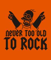 Мужская футболка  Никогда не стар для рока
