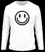 Мужская футболка с длинным рукавом Смайл