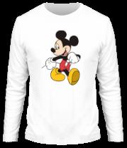 Мужская футболка с длинным рукавом Микки Маус идет