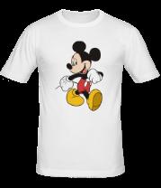 Мужская футболка  Микки Маус идет