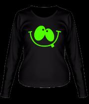 Женская футболка с длинным рукавом Улыбка