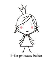 Футболка для беременных Little princess inside