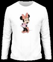 Мужская футболка с длинным рукавом Мини Маус