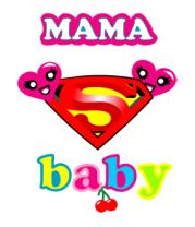 Женская футболка  Supermama