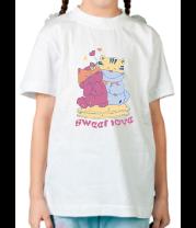 Детская футболка  Sweet Love
