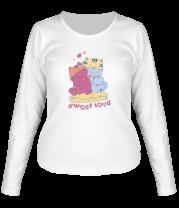 Женская футболка с длинным рукавом Sweet Love