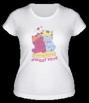 Женская футболка  Sweet Love