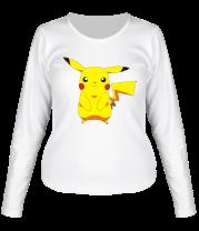Женская футболка с длинным рукавом Пикачу
