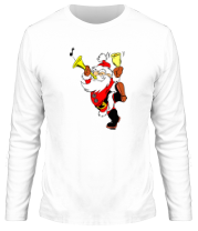 Мужская футболка с длинным рукавом Весёлый Дед Мороз