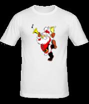Мужская футболка  Весёлый Дед Мороз