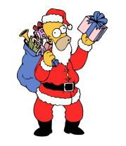 Мужская футболка с длинным рукавом Санта Гомер