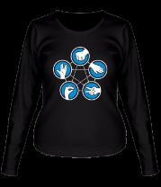 Женская футболка с длинным рукавом Правила игры