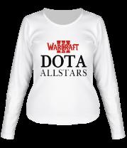 Женская футболка с длинным рукавом Warcraft dota