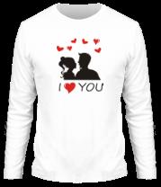 Мужская футболка с длинным рукавом I love you