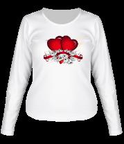 Женская футболка с длинным рукавом Heart