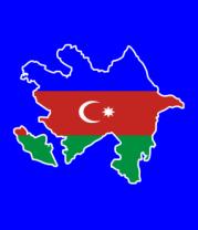 Мужская футболка с длинным рукавом Azerbaijan map