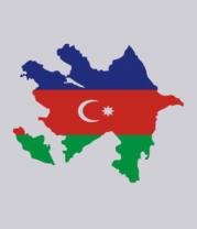 Мужская футболка  Azerbaijan map