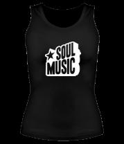 Женская майка борцовка Soul music