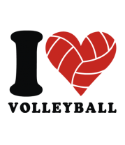 Футболка поло мужская I Love Volleyball