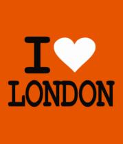 Футболка поло мужская I Love London