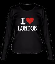 Женская футболка с длинным рукавом I Love London