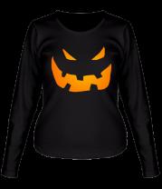 Женская футболка с длинным рукавом Halloween smile