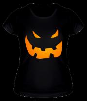 Женская футболка  Halloween smile