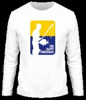 Мужская футболка с длинным рукавом Счастливый рыбак