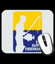 Коврик для мыши Счастливый рыбак