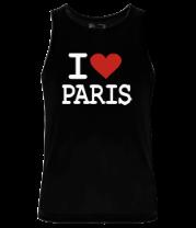 Мужская майка I love Paris