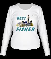 Женская футболка с длинным рукавом Best Fisher