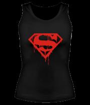 Женская майка борцовка Кровавый супермен