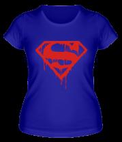 Женская футболка  Кровавый супермен