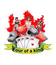 Женская футболка  Four of a kind