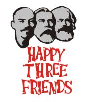Женская футболка  Happy Three Friends - Ленин Маркс и Энгельс
