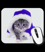 Коврик для мыши Новогодняя кошечка