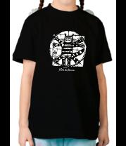 Детская футболка  Кот Да Винчи