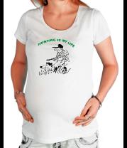 Футболка для беременных Охота - моя жизнь