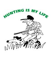 Женская футболка с длинным рукавом Охота - моя жизнь