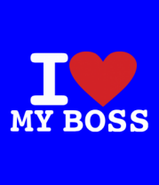 Женская футболка  I love my Boss