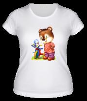 Женская футболка  Медведь