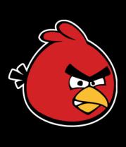 Женская футболка  Красная птица Angry bird