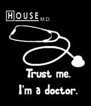 Мужская футболка с длинным рукавом House. Trust me I am a doctor