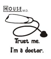 Толстовка без капюшона House. Trust me I am a doctor