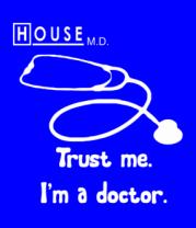 Женская футболка  House. Trust me I am a doctor