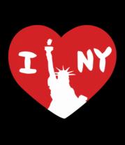 Футболка поло мужская I Love NY