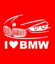 Женская футболка  I love BMW