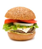 Женская футболка с длинным рукавом Гамбургер