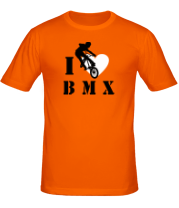 Мужская футболка  I love BMX
