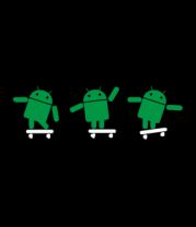Мужская майка Android на скейте